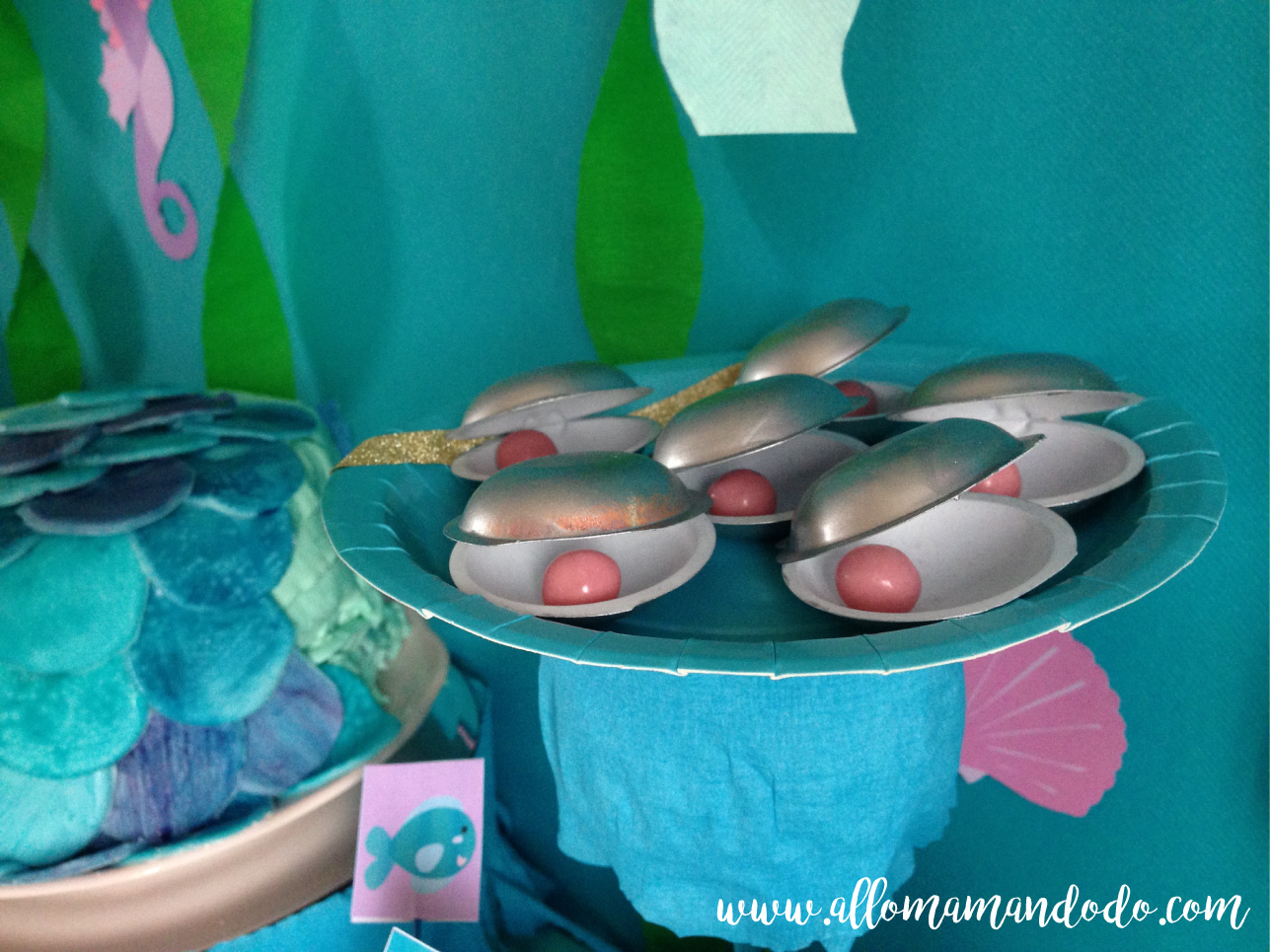 perles ariel coquillage