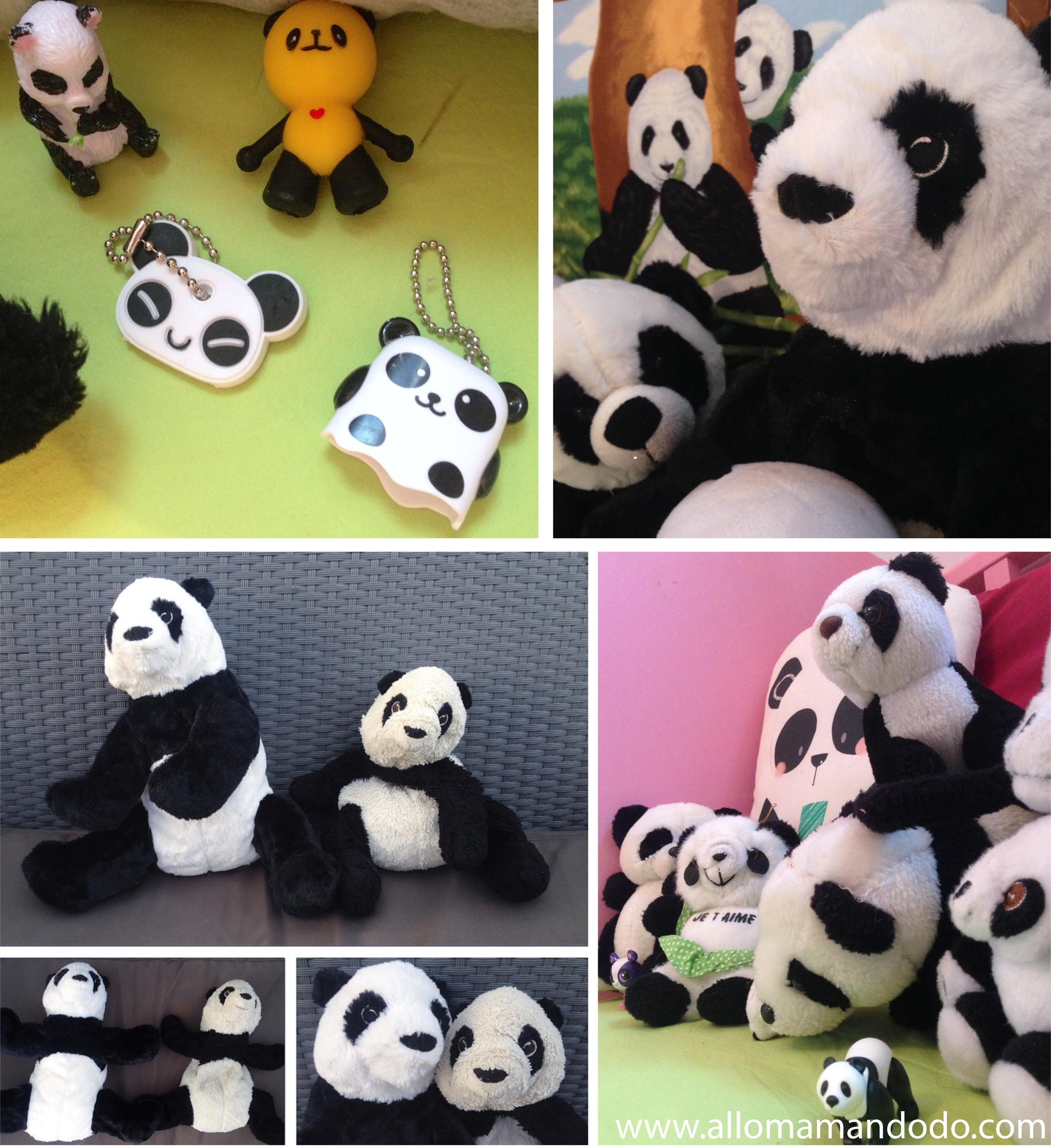 ma fille est une panda addict sa collection en photo allo maman dodo. Black Bedroom Furniture Sets. Home Design Ideas
