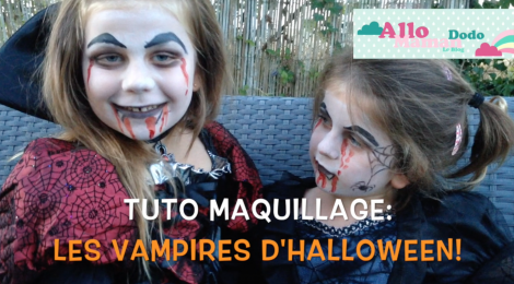 tuto maquillage facile pour enfants les vampires d. Black Bedroom Furniture Sets. Home Design Ideas
