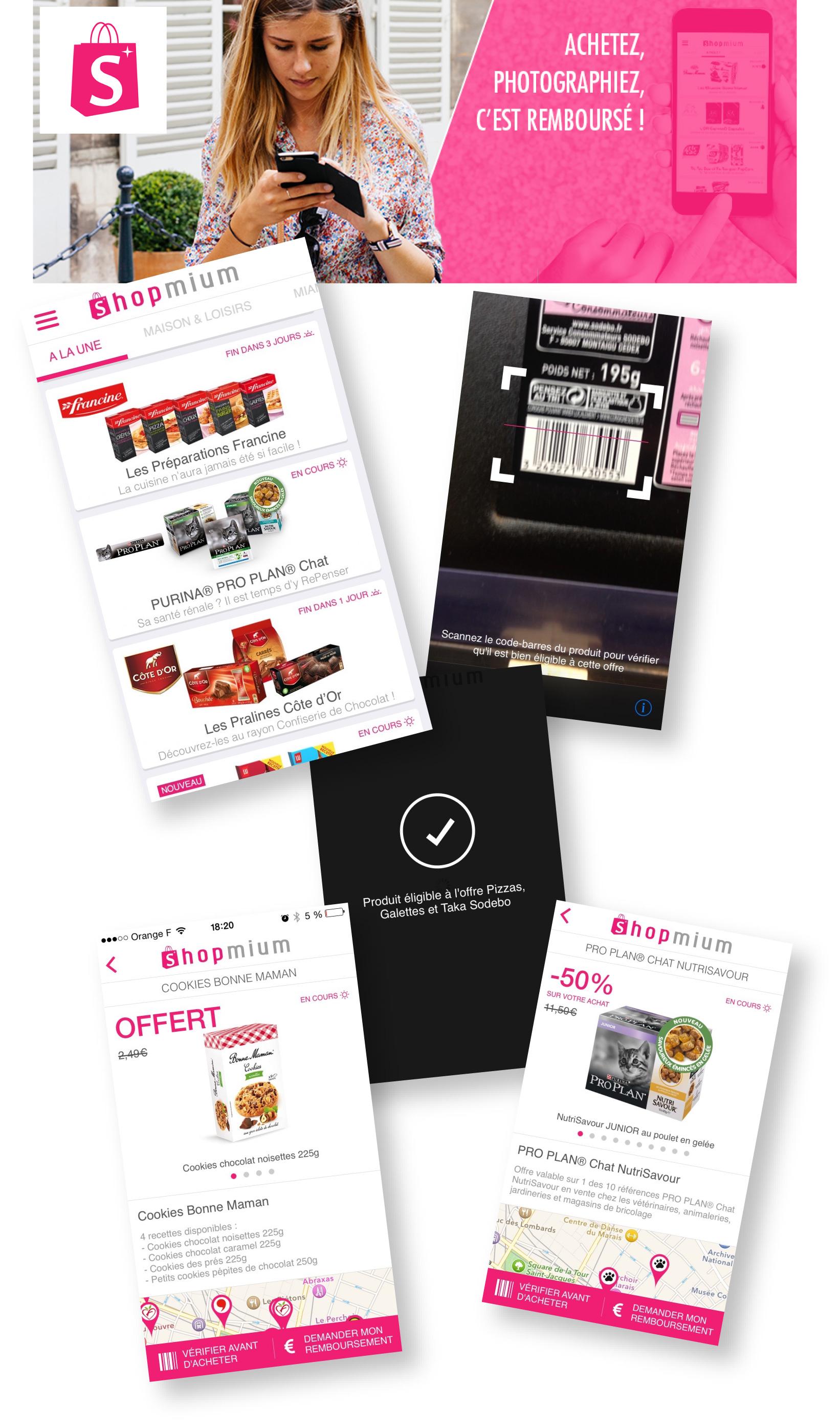 shopmium l 39 appli course qui te fait gagner de l 39 argent cadeau pour vous tous allo maman. Black Bedroom Furniture Sets. Home Design Ideas