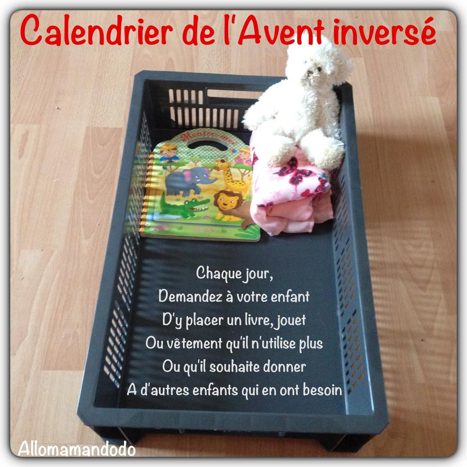 calendrier de l 39 avent invers apprendre aux enfants a. Black Bedroom Furniture Sets. Home Design Ideas