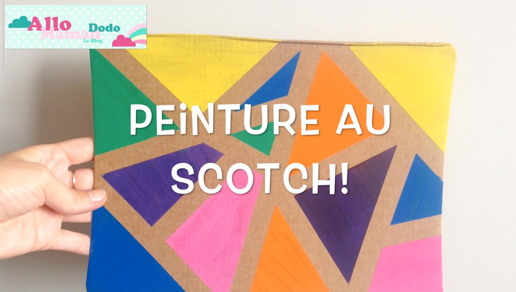 activit facile peinture au scotch tuto vid o allo maman dodo. Black Bedroom Furniture Sets. Home Design Ideas