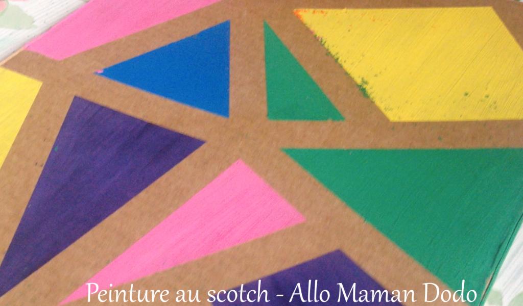 activité peinture scotch enfant