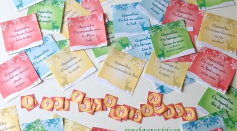 Le calendrier de l'avent à imprimer (activités et partage en famille!)