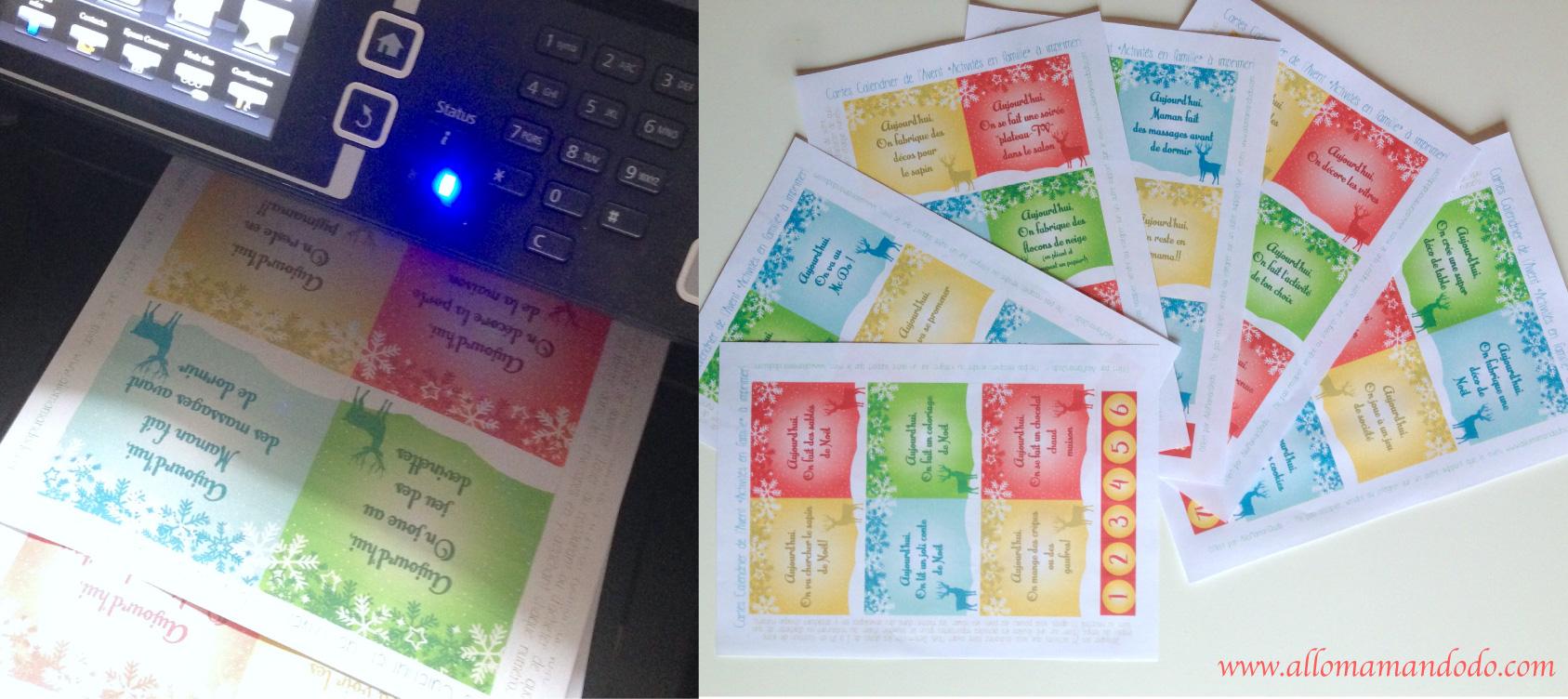 Le calendrier de l 39 avent imprimer activit s et partage en famille allo maman dodo - Calendrier de l avent a fabriquer en maternelle ...