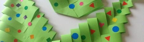 Fabrique des Sapins en papier (DIY facile et rapide!)