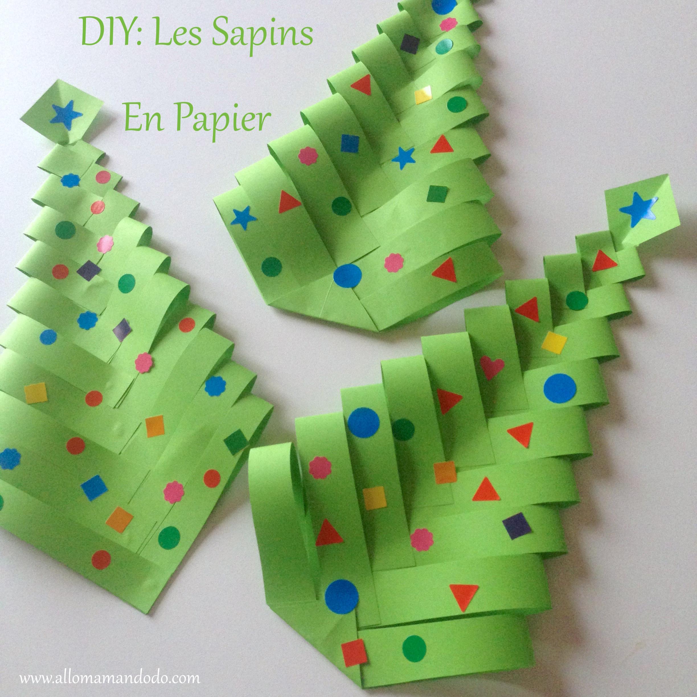 Fabrique Des Sapins De Noel En Papier Diy Facile Et Rapide Allo