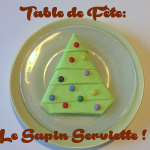 DIY Table de Noël: Pliage de Sapin en Serviette !
