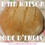 Faire son pain, c'est pas si compliqué! (Recette Facile!)