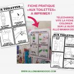 Fiche pratique: «Aux Toilettes» à imprimer! (Téléchargement Gratuit!)