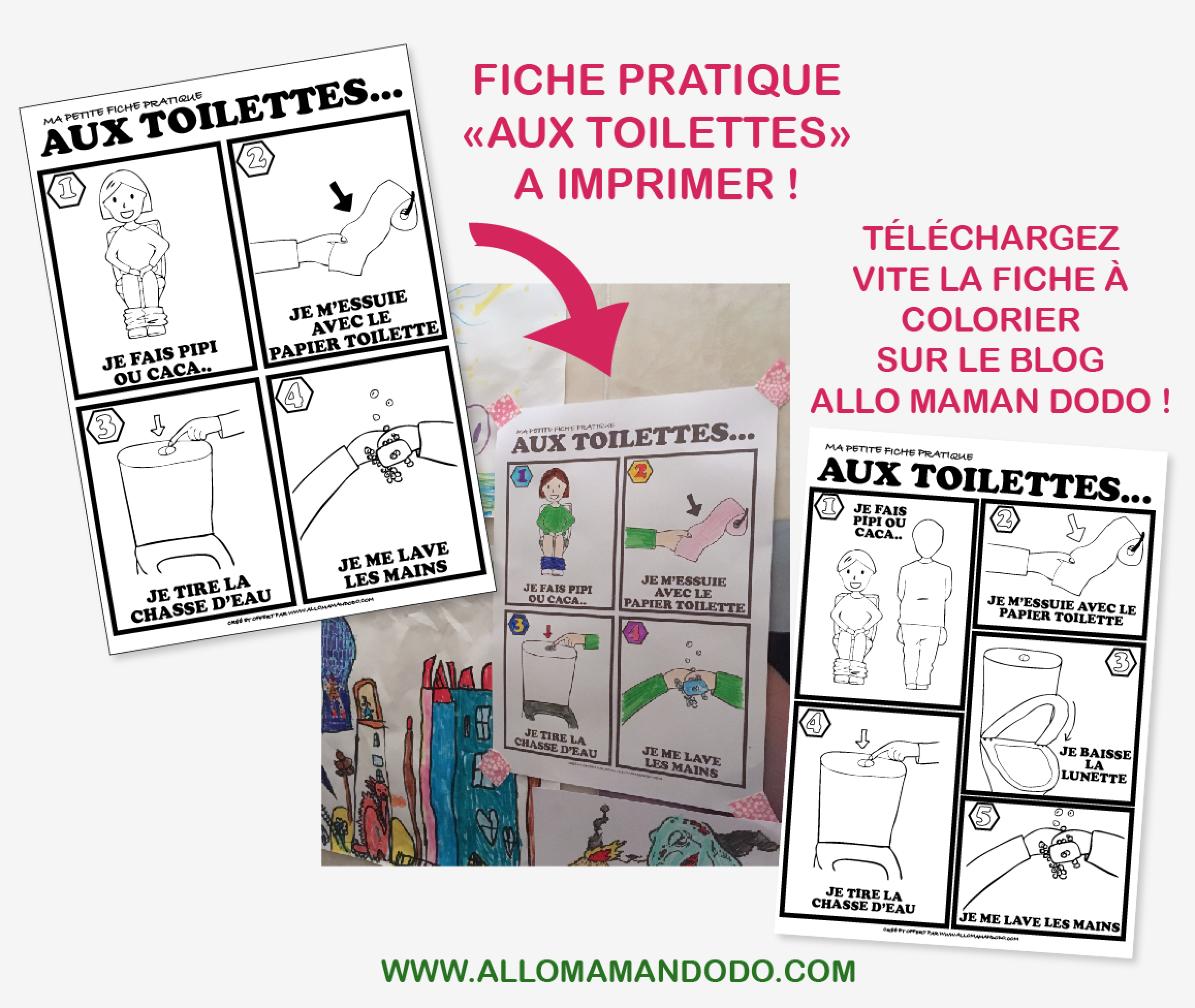 fiche pratique aux toilettes imprimer t l chargement gratuit allo maman dodo. Black Bedroom Furniture Sets. Home Design Ideas