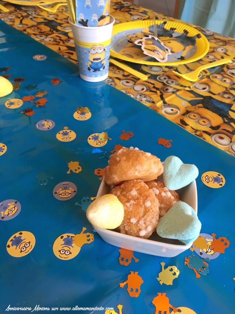 bonbons table anniversaire minion