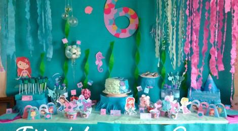 Un anniversaire Sirène (Les Photos de La Sweet Table ! )