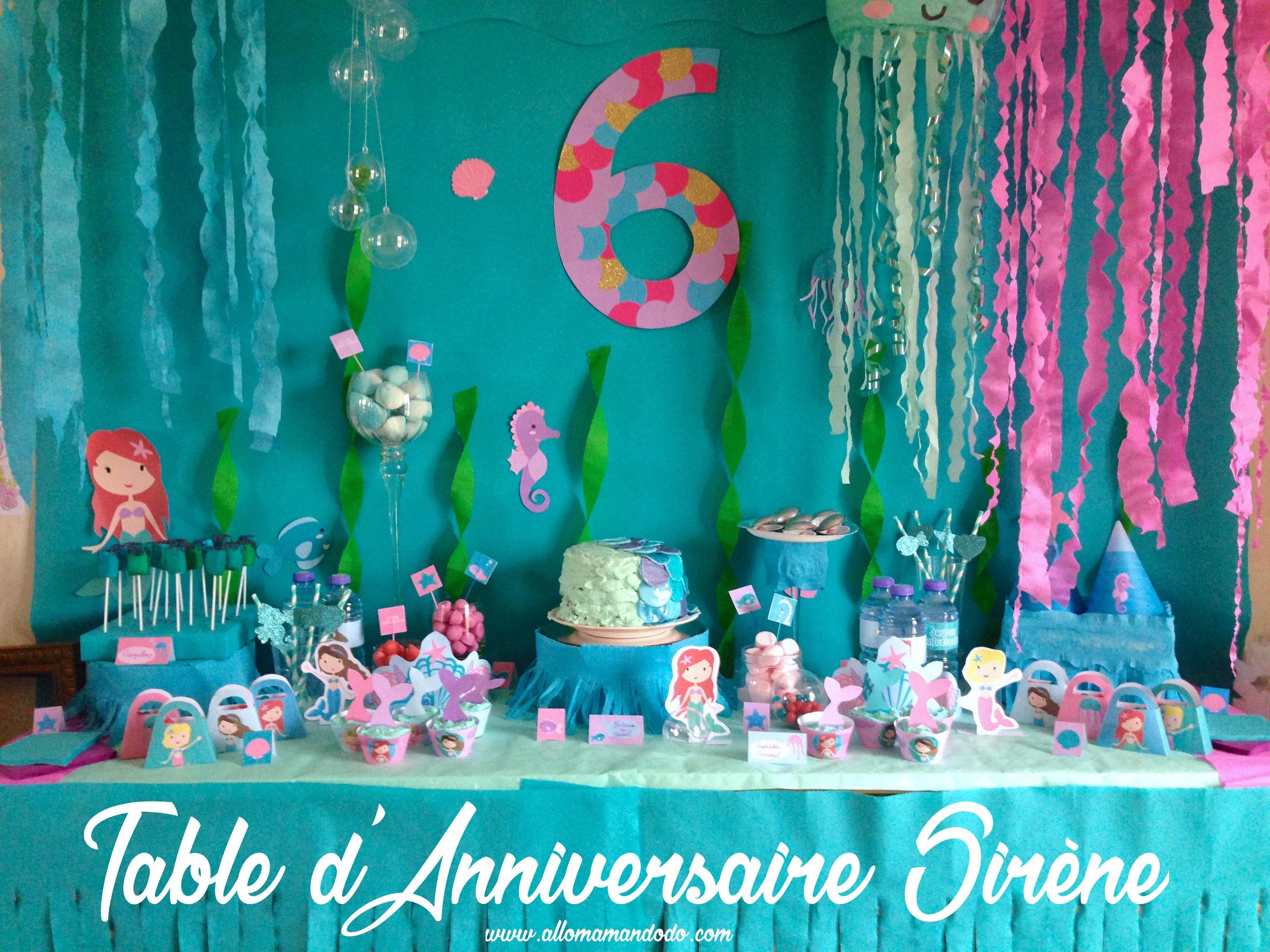 un anniversaire sirène (les photos de la sweet table ! ) - allo