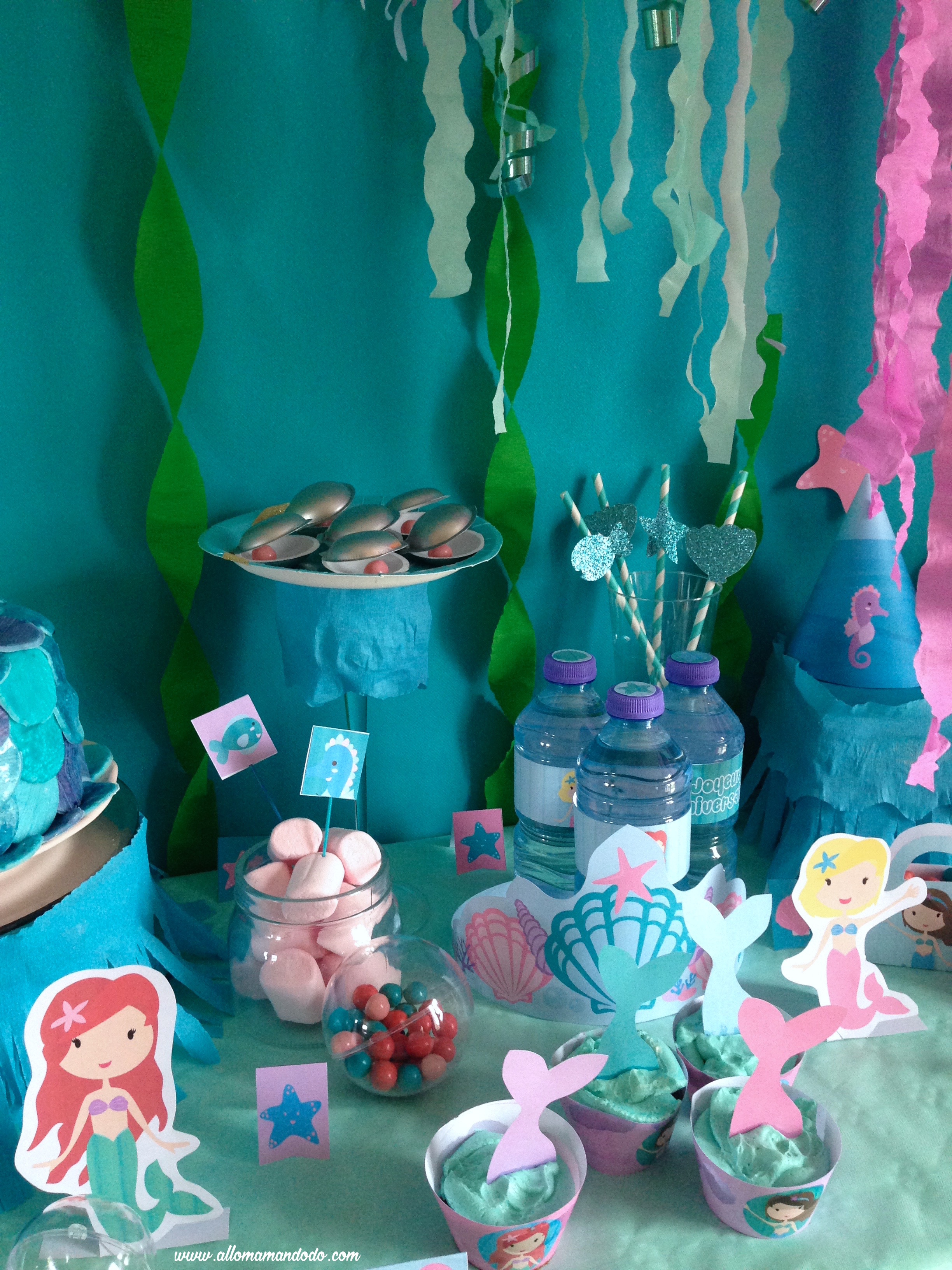 decoration anniversaire sirène