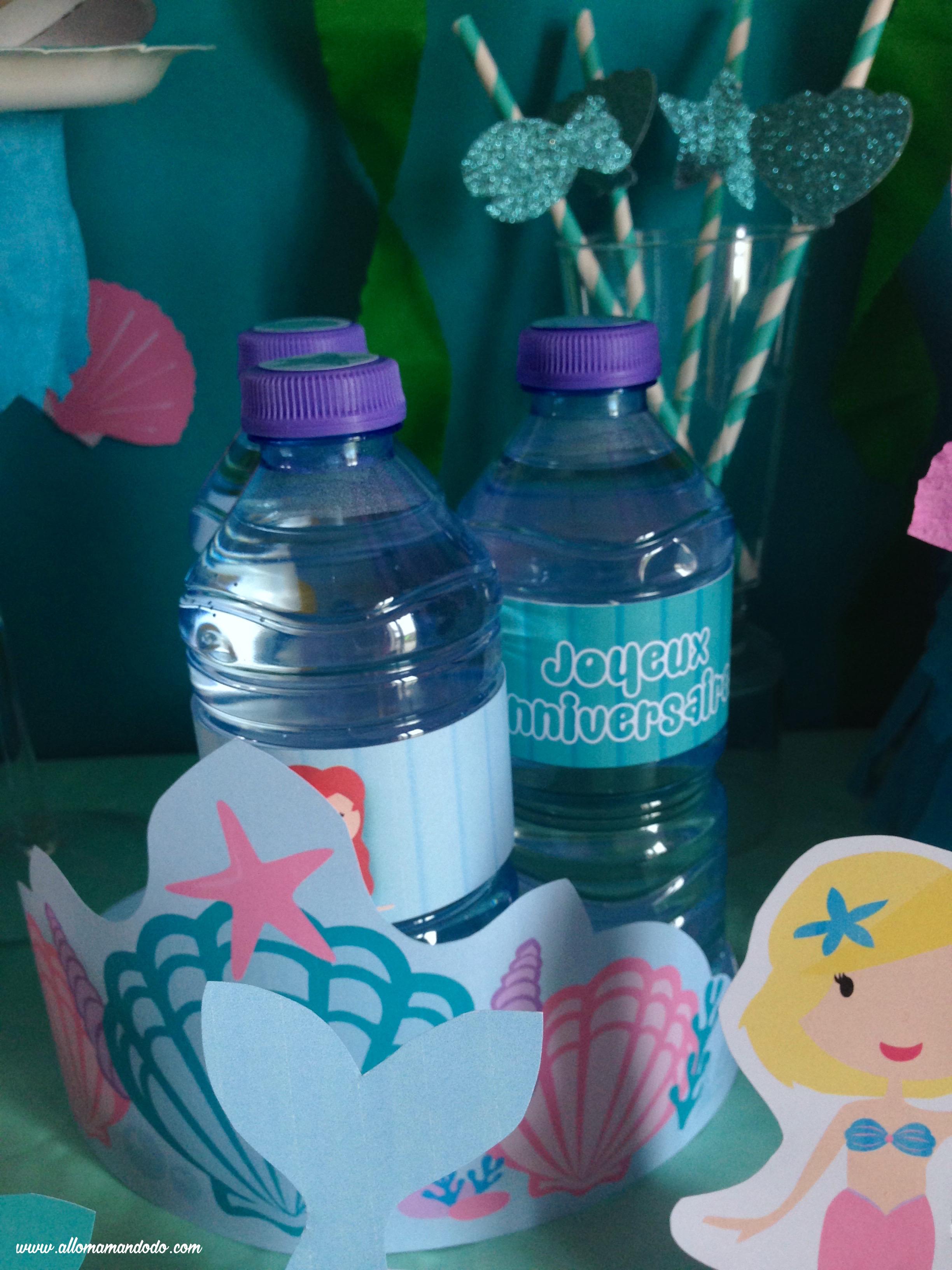 etiquettes bouteille anniversaire sirène