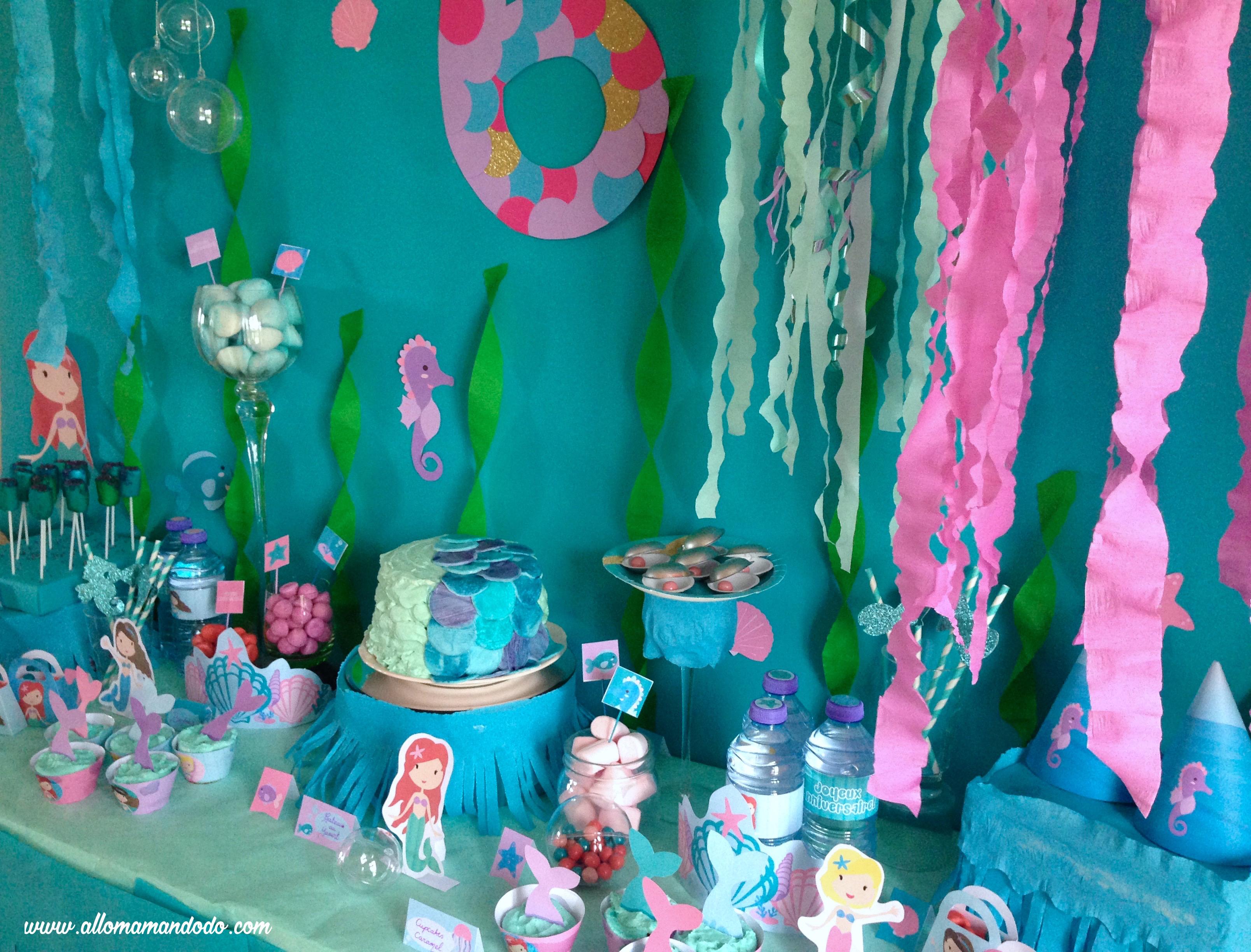 mermaid sweettable party
