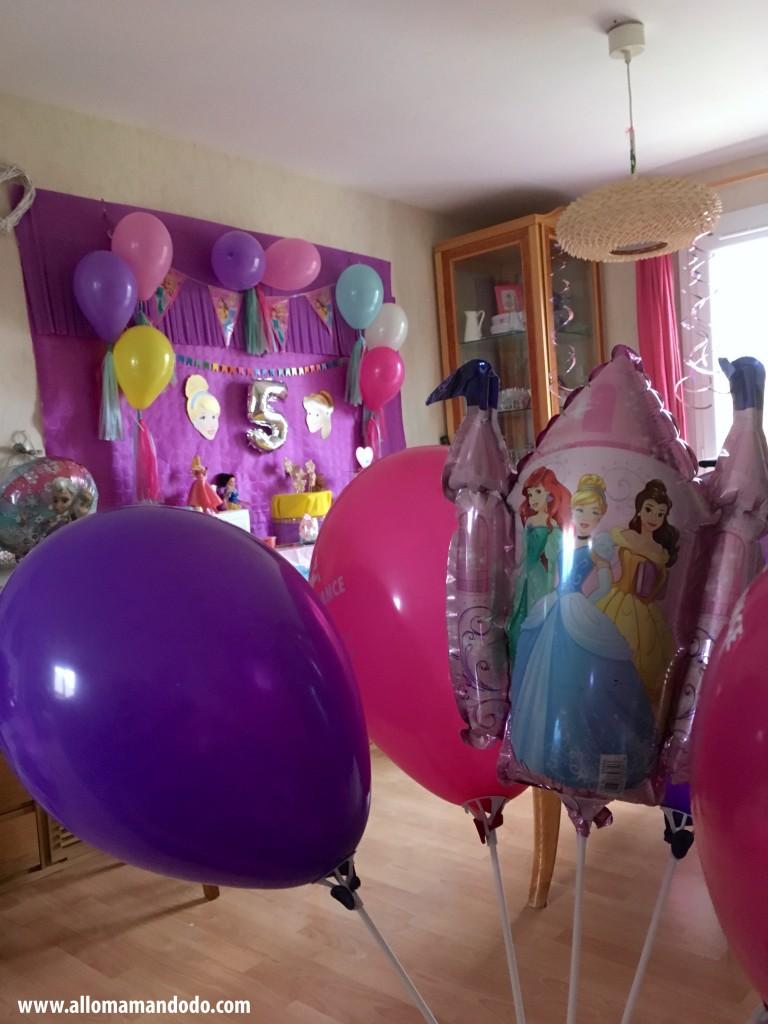 ballons princesses
