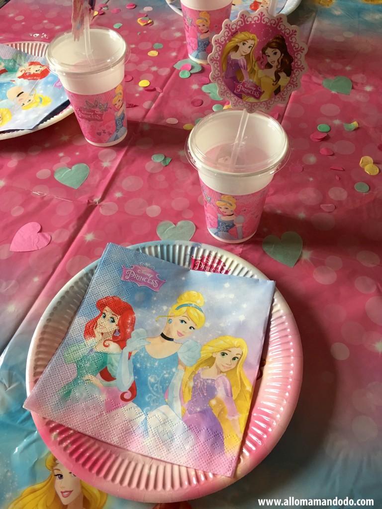 decoration table princesses