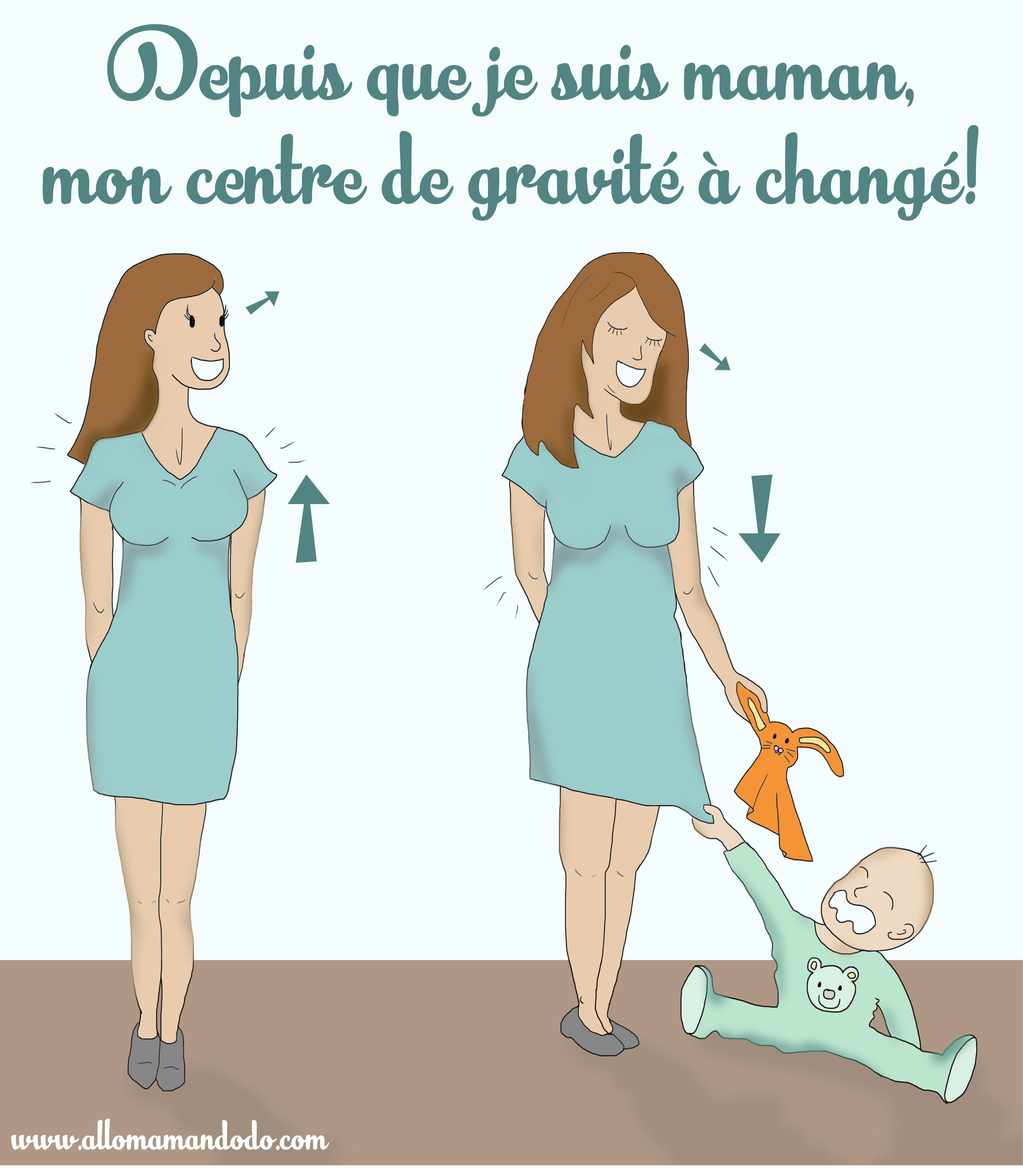 centre de gravité maman