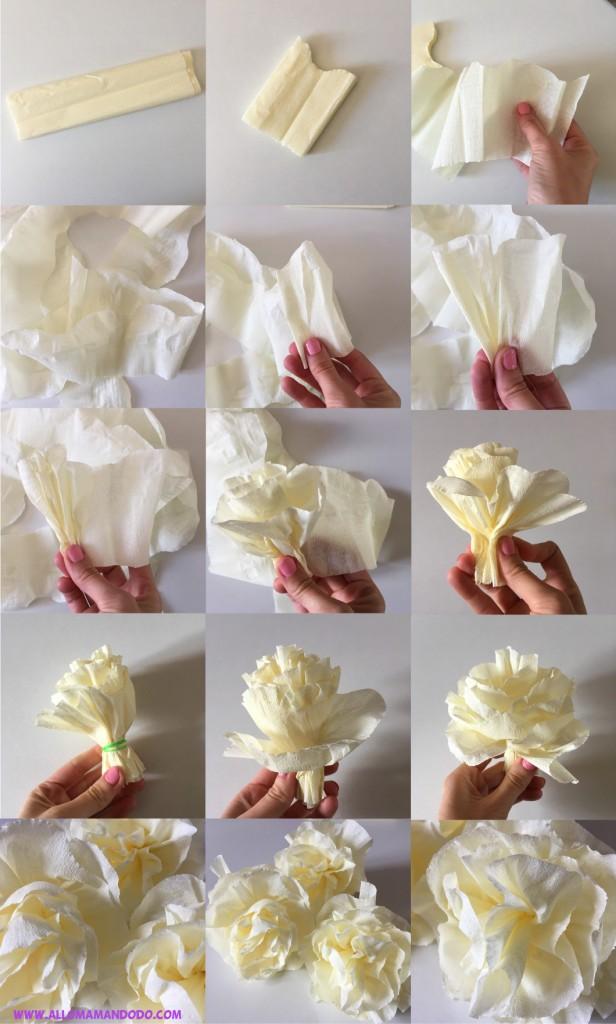 diy fleur crepon
