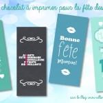 DIY Facile: Les papiers de chocolat à imprimer pour la fête des mères!