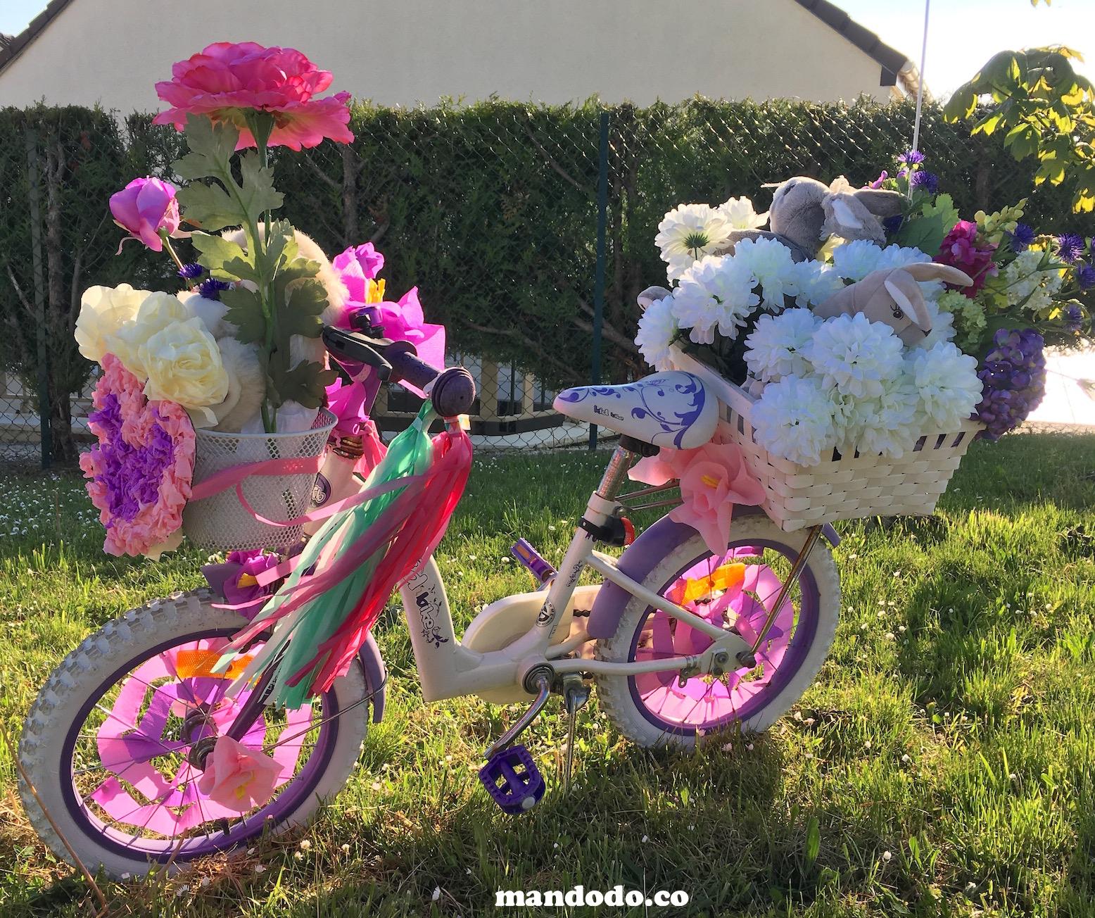 Www Decoration Velo Avec Fleur En Crepon