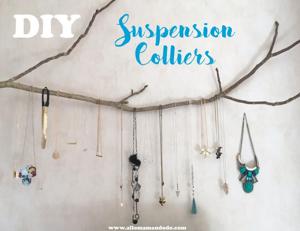 suspension diy accroche collier bijou
