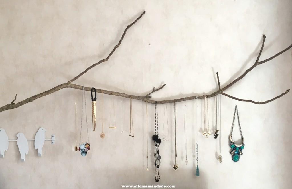 suspension bijou naturel bois branche