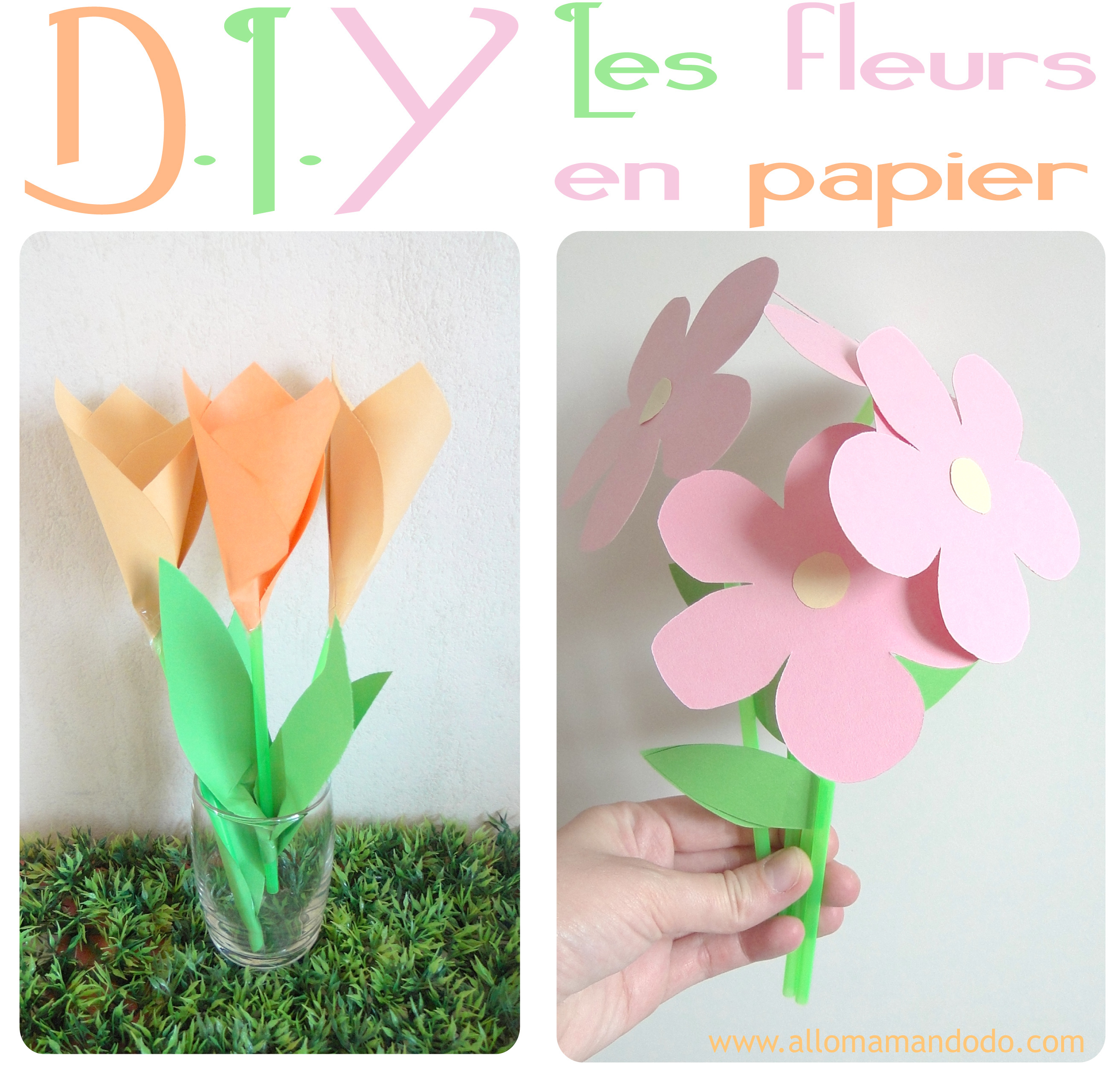tuto diy les fleurs en papier facile allo maman dodo. Black Bedroom Furniture Sets. Home Design Ideas