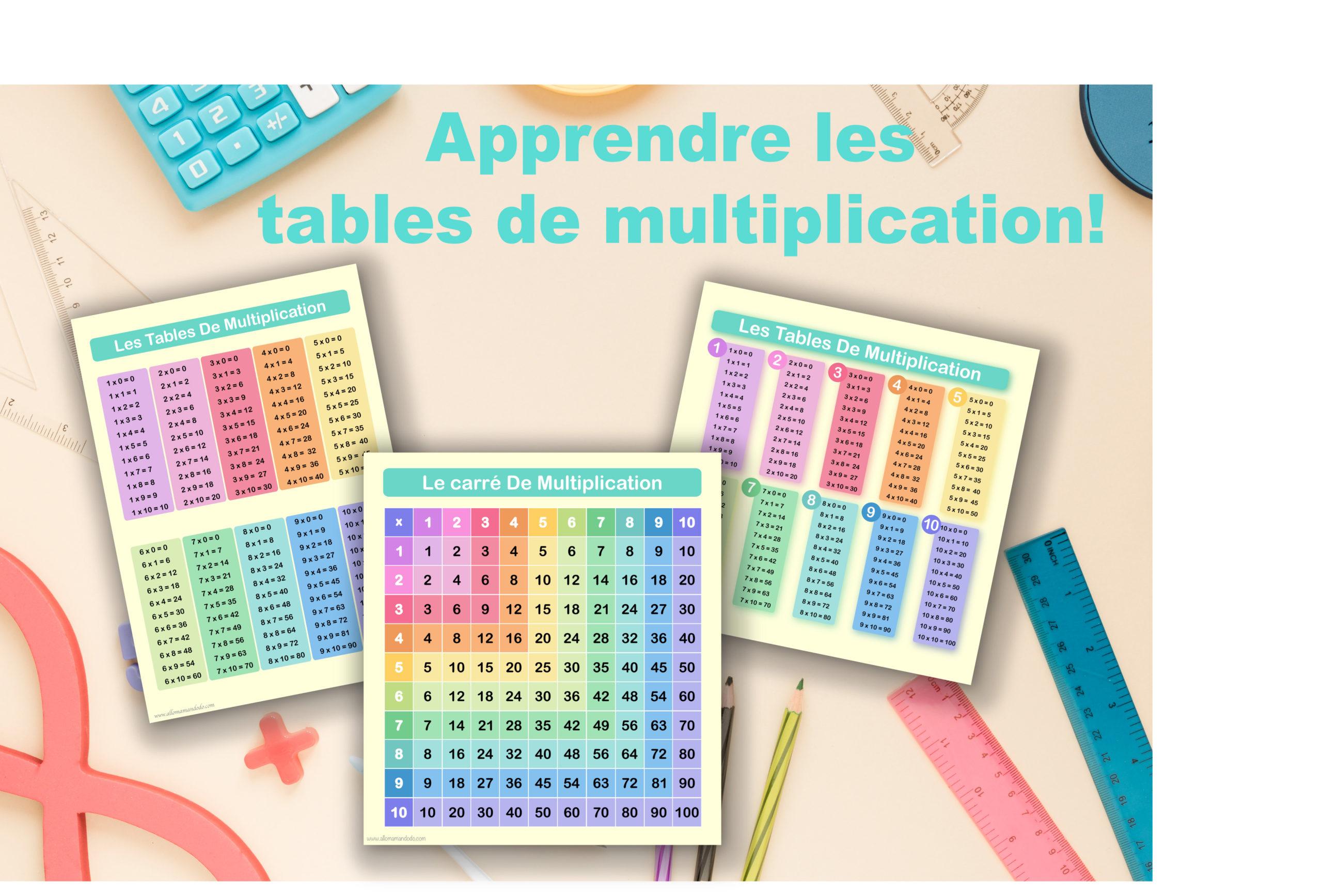 Apprendre les tables de multiplication! (Printables) - Allo Maman Dodo