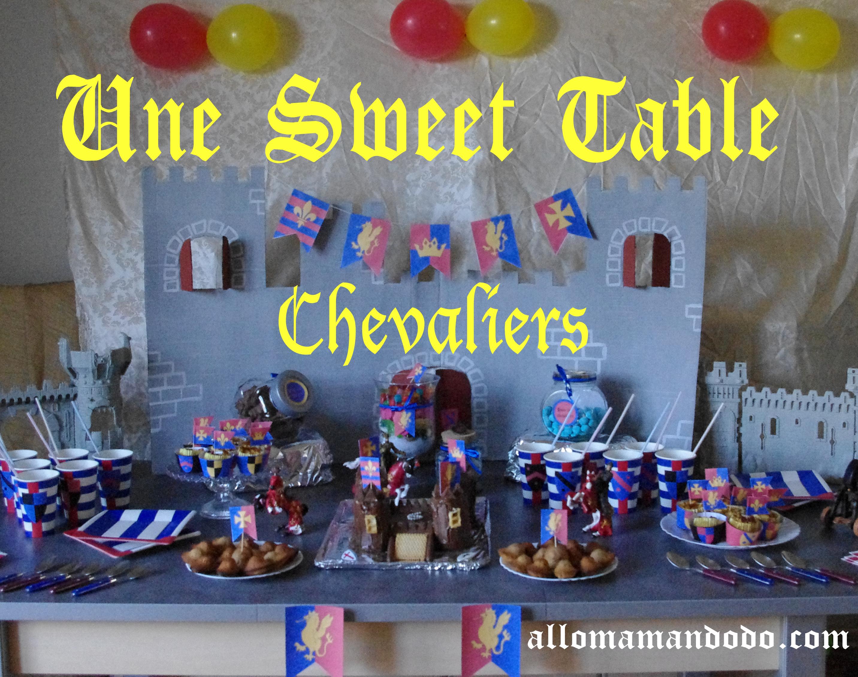 Un anniversaire de chevalier sweet table id es d co diy for Decoration 18 ans garcon