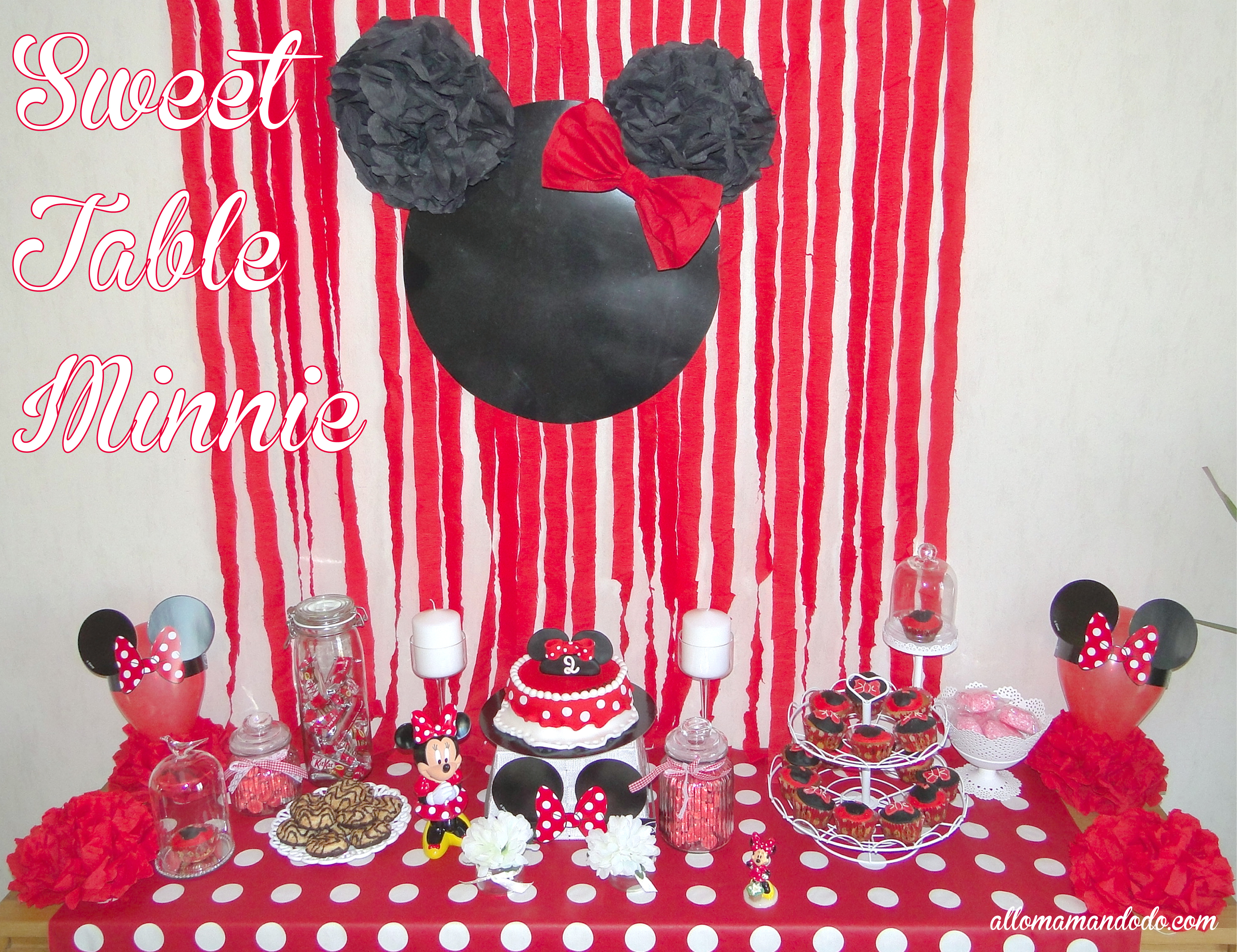 un anniversaire minnie la d coration de la sweet table de ptitepomme allo maman dodo. Black Bedroom Furniture Sets. Home Design Ideas