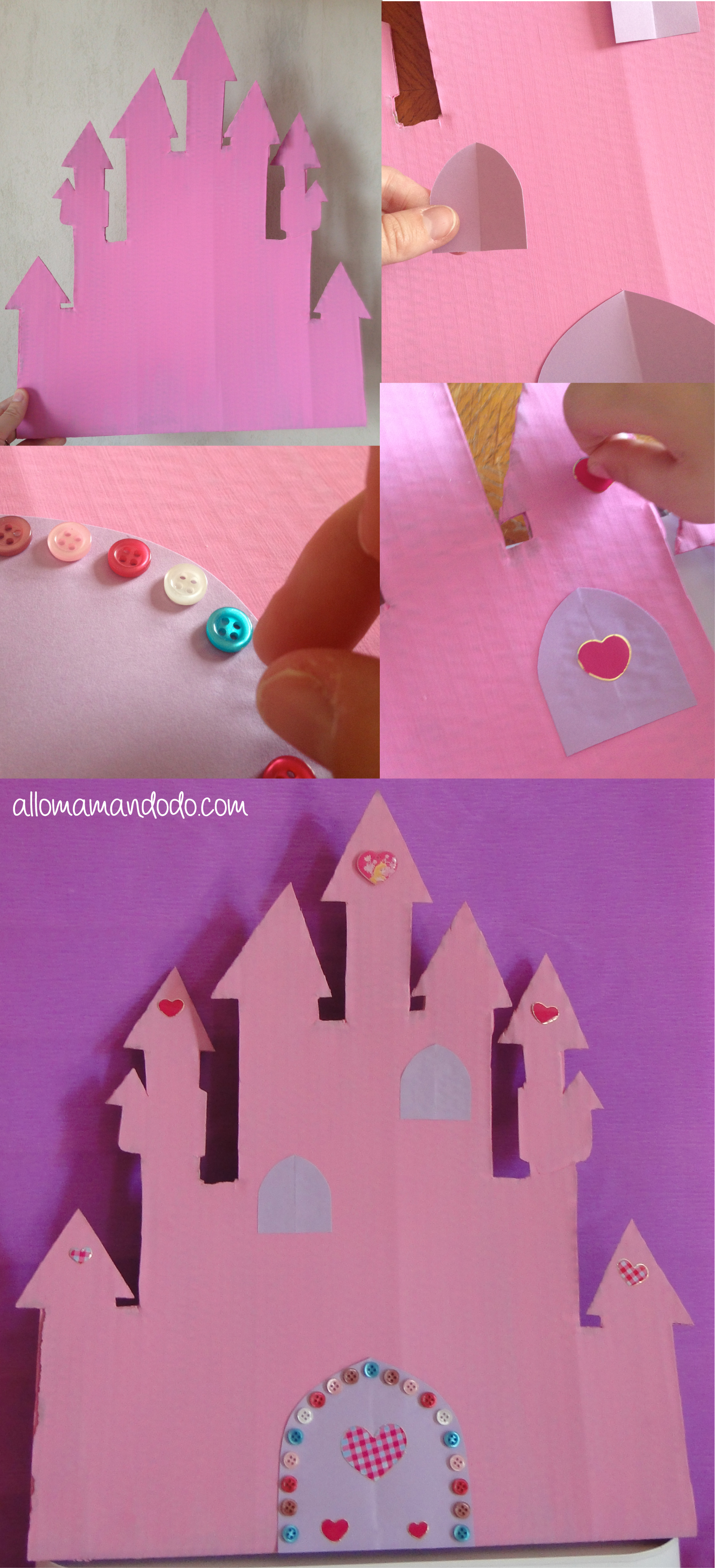 Un anniversaire princesse sweet table diy ch teau for Image chateau princesse