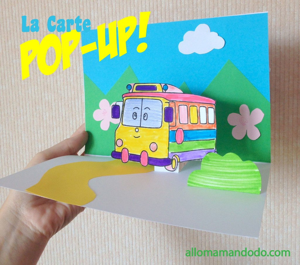Fabrique ta carte pop up robocar poli diy allo maman dodo - Carte pop up facile ...