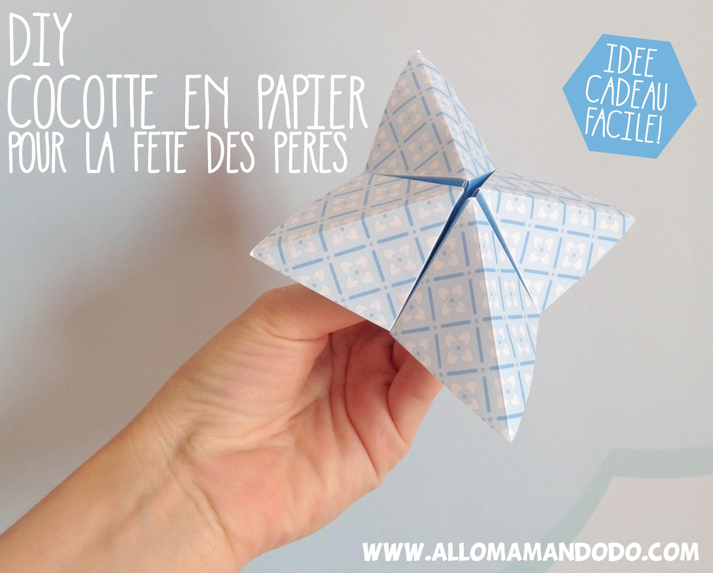 Chose A Faire Pour La Fete Des Pere diy cocotte en papier pour papa! (idée cadeau fête des pères