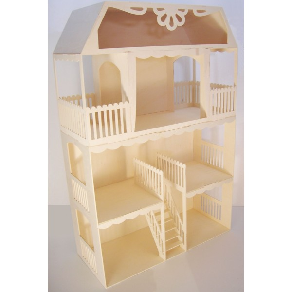 sa maison de barbie personnaliser merci les kits mini cr a diy photos allo maman dodo. Black Bedroom Furniture Sets. Home Design Ideas