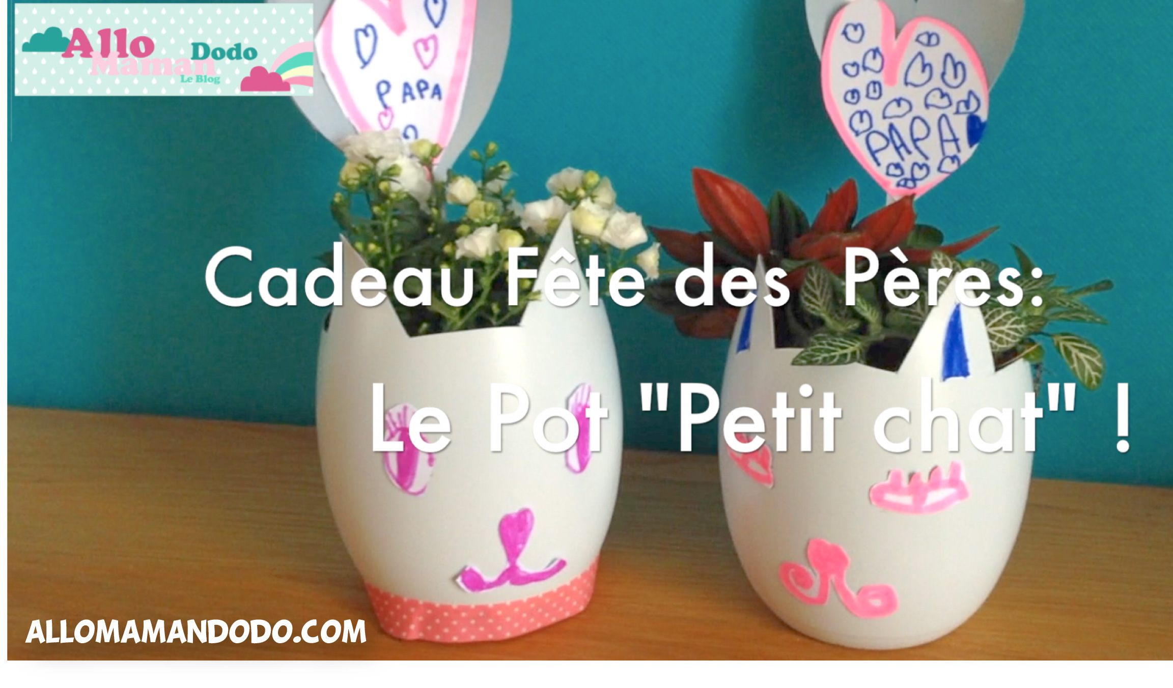 diy cadeau f te des p res le pot petit chat pour papa bledinafetelespapas allo maman dodo. Black Bedroom Furniture Sets. Home Design Ideas