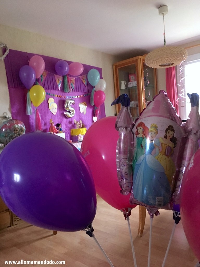 ballons princesses