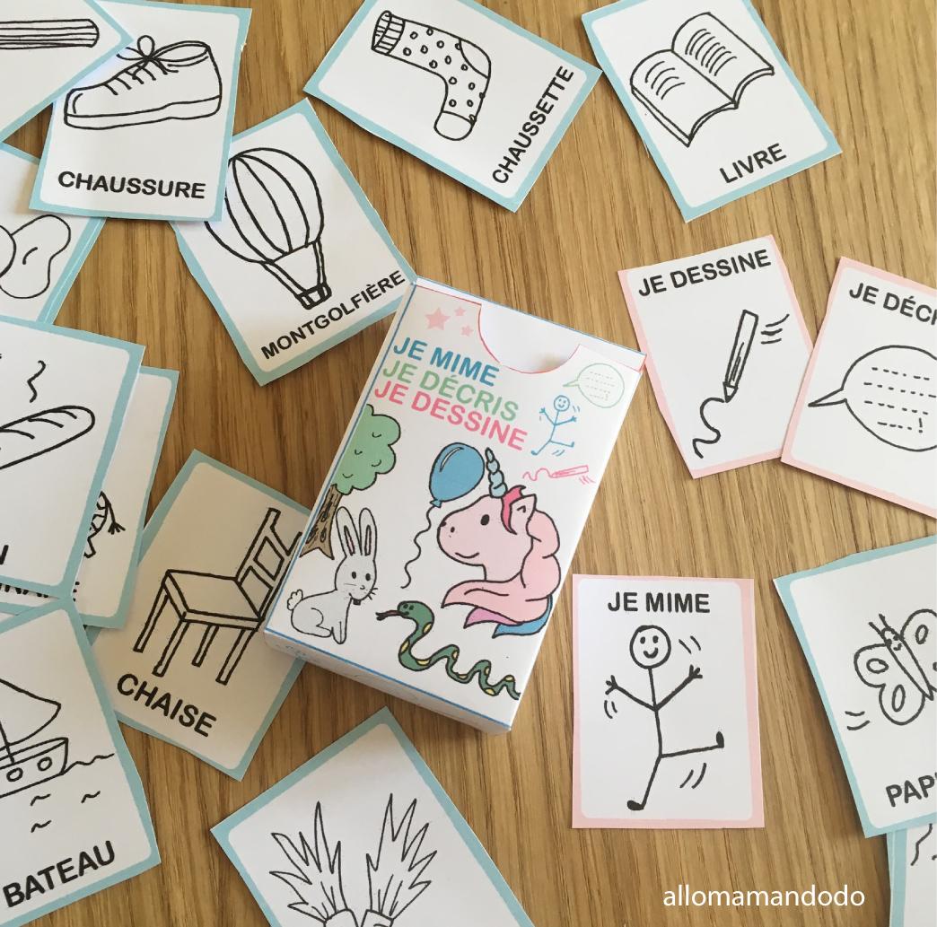 """Idée De Jeux En Famille Pour Noel jeu """"je mime, je décris, je dessine"""" à imprimer (#gratuit"""